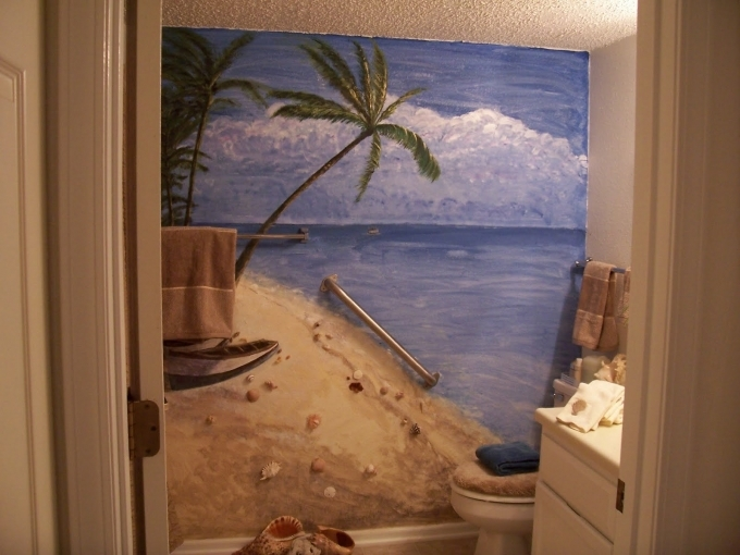Beach Themed Decor For Bathroom Pinterest  Picture