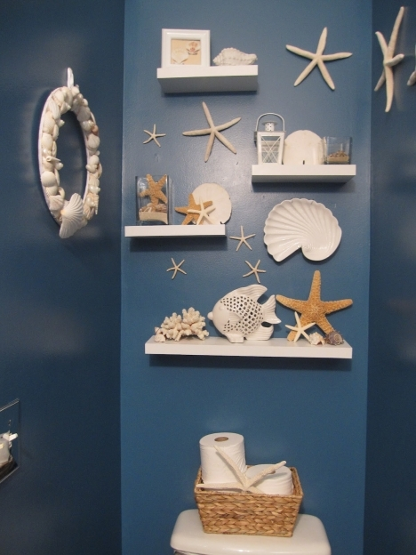 Beach Themed Decor For Bathroom Wall Decoration Ideas Pictures