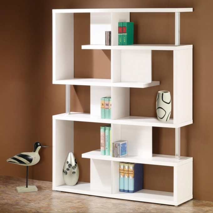 Bookshelf Decorating Ideas Modern Small Corner Bookshelf Furniture Design Photo