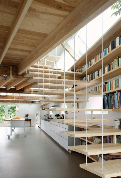 Floating Stairs Barn Conversion In Geldermalsen The Netherlands  Image