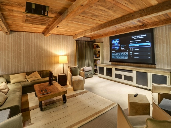 Small Media Room Designs Rustic 14