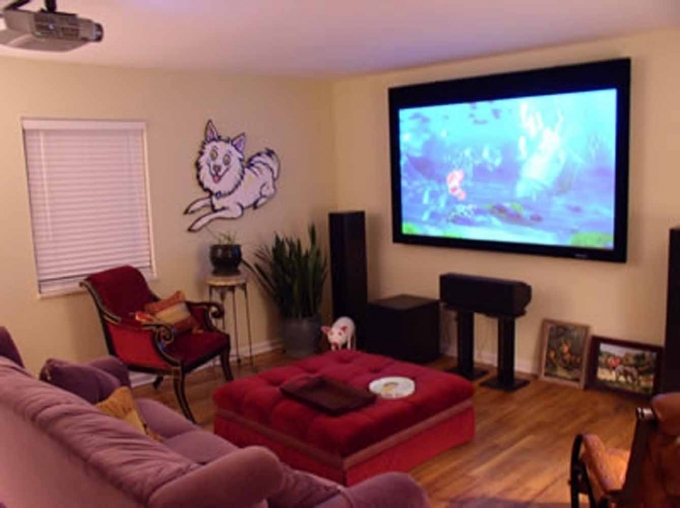 Designing small media room ideas home interior design ideas for Media room decorating ideas