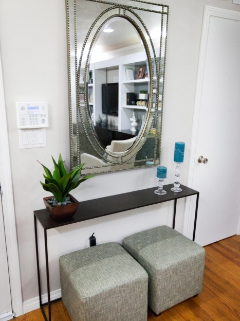 Mirrored Hallway Furniture Danielle Miera Living Room After Entry Table Pic