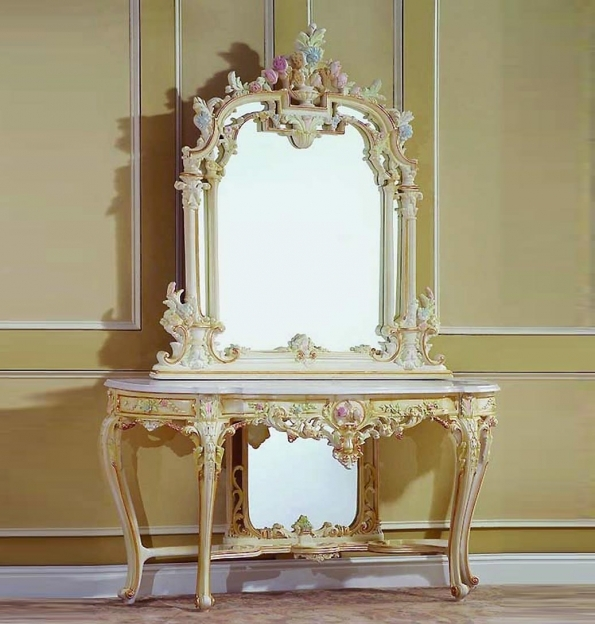 Mirrored Hallway Furniture Hall Tree With Mirror And Table Combination Picture