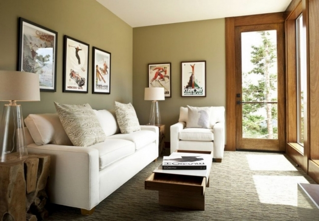 Small Space Living Room Minimalist Design With Floor Lamps And Modern White Sofa Pictures