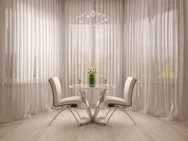 Mesmerizing Contemporary Window Treatments For Bay Windows Luxurious Style Pics