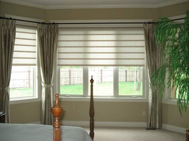 Sensational Contemporary Window Treatments For Bay Windows Stunning Curtains And Elegant Images