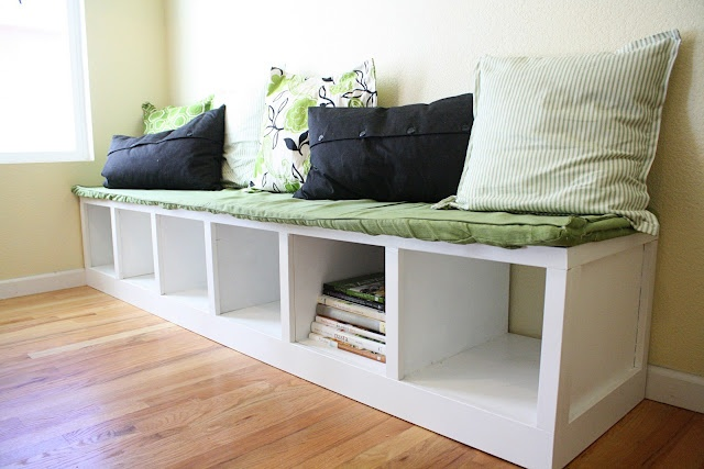 Wooden Storage Bench with Cushion Ideas