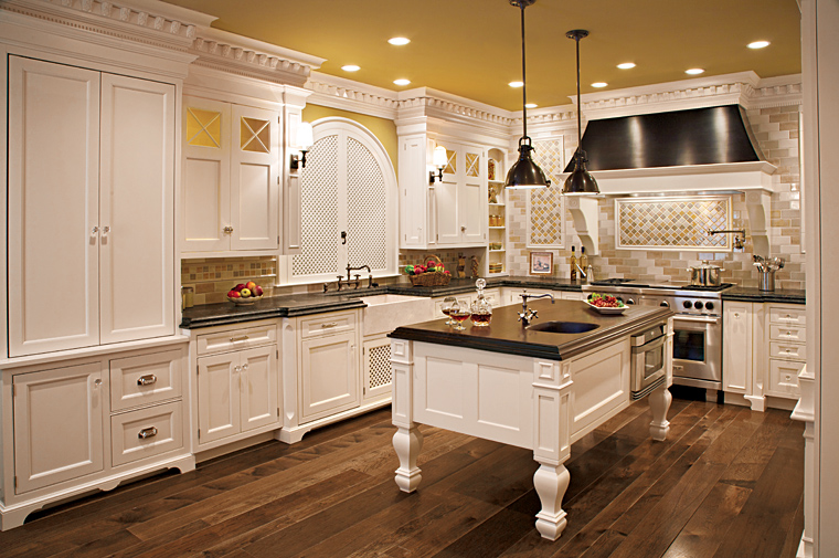 Beautiful Custom Luxury White Kitchen Design