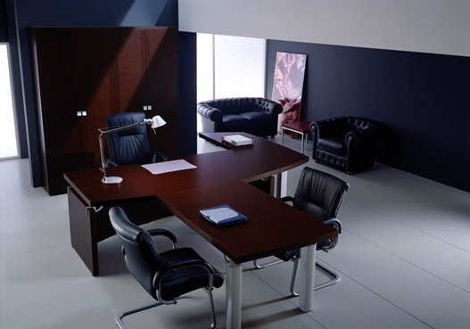 Modern T-Shape Office Desk For Executive Class