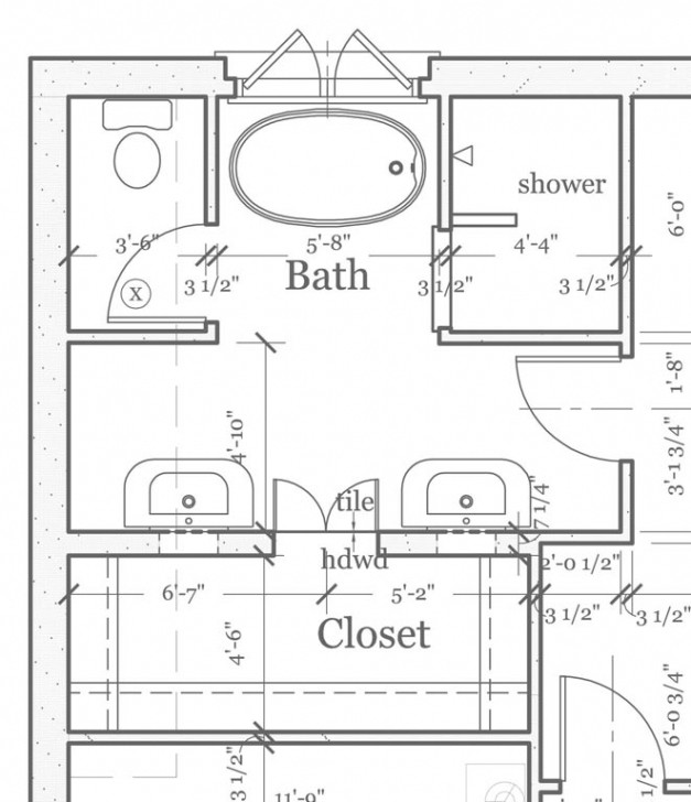 Amazing Master Bath Floor Plans Master Bathroom Pic