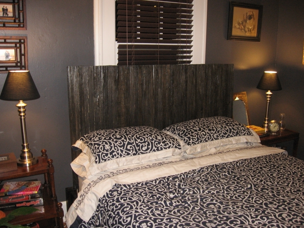 Attractive Wood Headboard Designs Ideas With Wood Lath Headboard For Modern Bedroom Design Photos