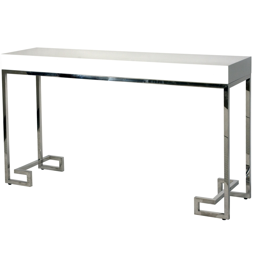 Awesome White Lacquer Console Table With Ideas For Home