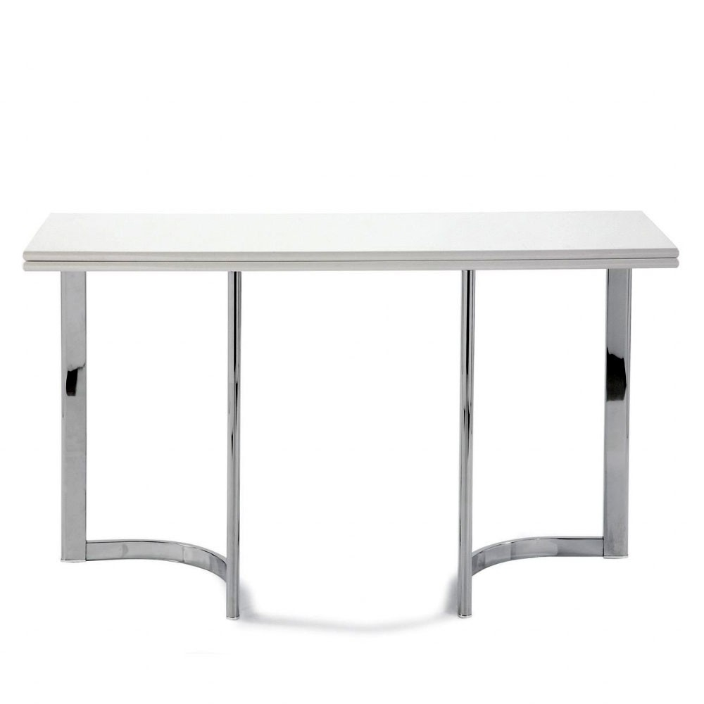 Awesome White Lacquer Console Table Within Dining Table Folding Console Dining Table