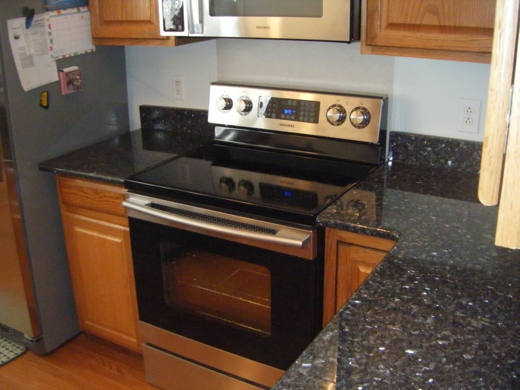 Classy Blue Pearl Granite Countertop With Fresh Model Ideas Pictures