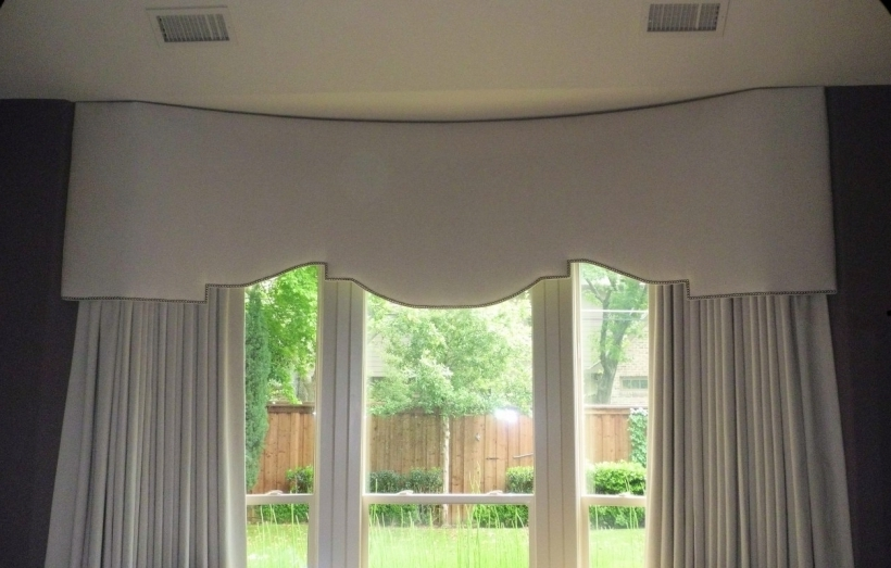 Comfy Cornices For Windows Custom Bay Window Treatments Pictures