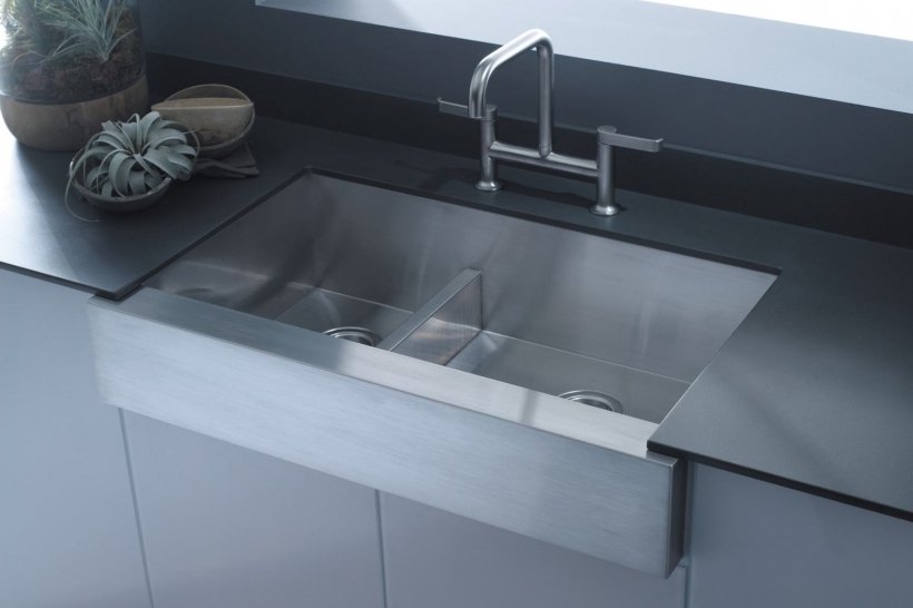 Comfy Drop In Farmhouse Stainless Steel Kitchen Sinks Kohler Pictures