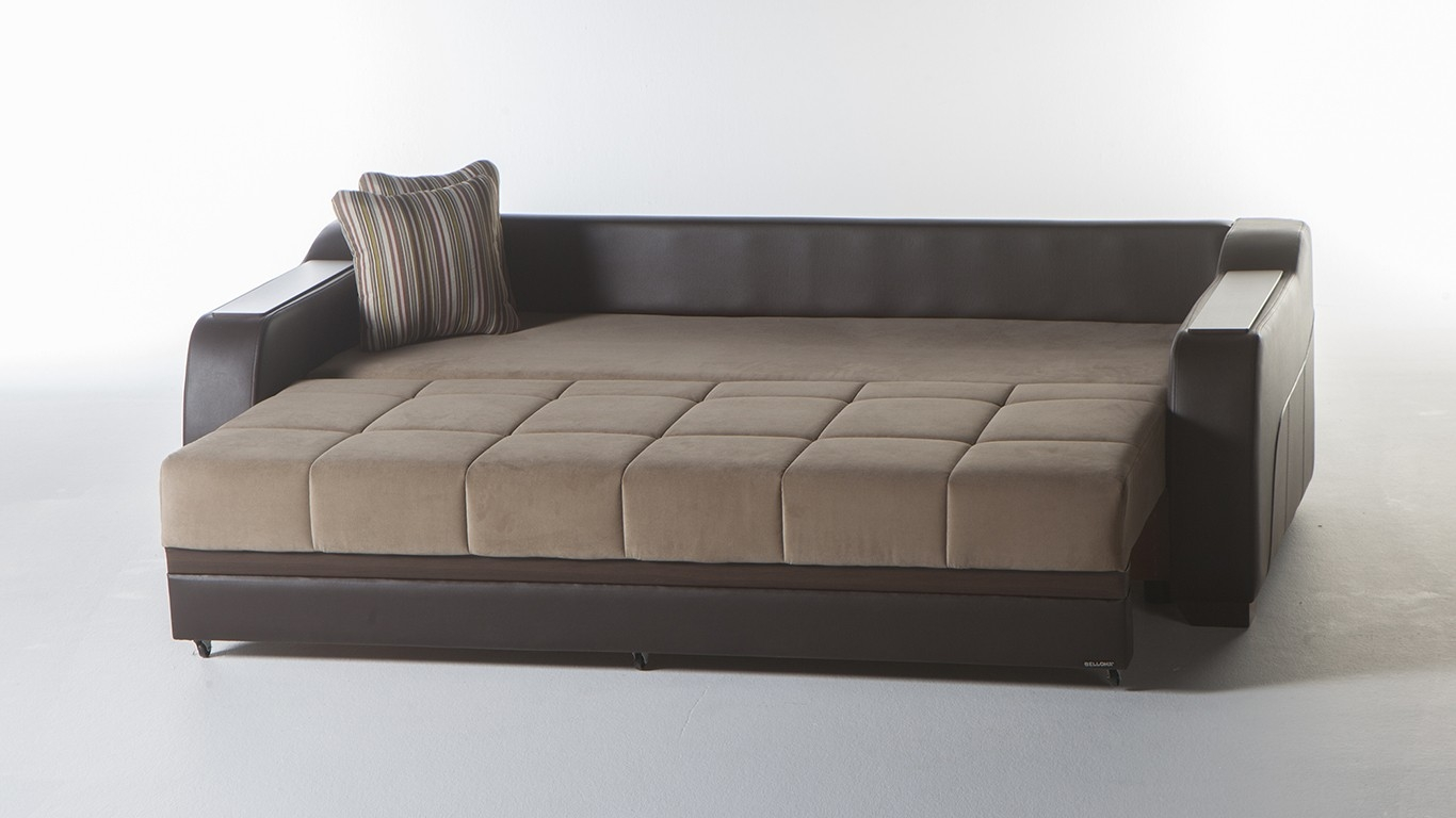 Comfy Sofa Sleeper With Storage In Ultra Lilyum Sofa Bed