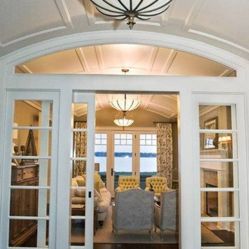Cosy French Doors With Transom Decorating Ideas Pic