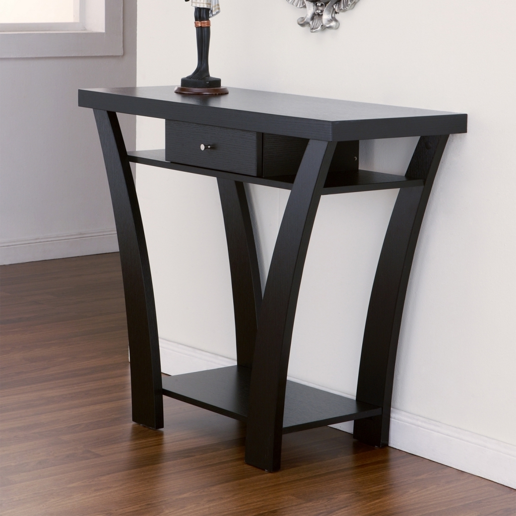 Extraordinary Small Entry Table Divine Tall Round Entry Table Black Round Foyer Table Images