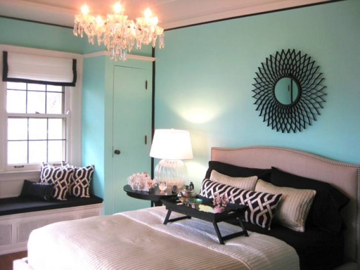 Extraordinary Tiffany Blue Paint Color With Transitional Bedroom Benjamin Moore Photo