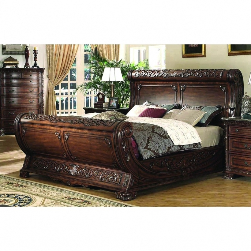 Fantastic Gondola Bed Bedroom Furniture King Size Bed In Cherry Finish Photos
