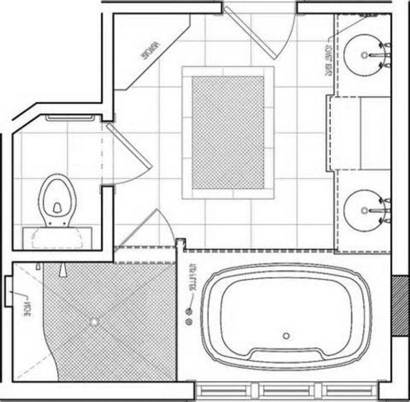Fantastic Master Bath Floor Plans Master Bathroom Layout  Pictures