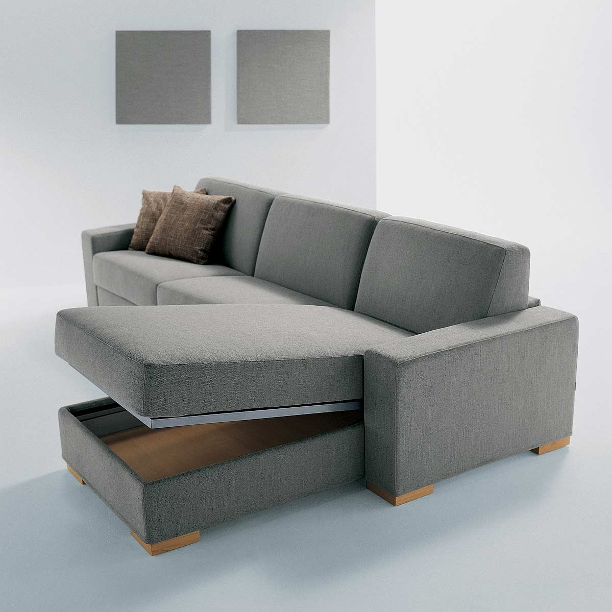 Fascinating Sofa Sleeper With Storage Inside Contemporary Gray Sofa Bed