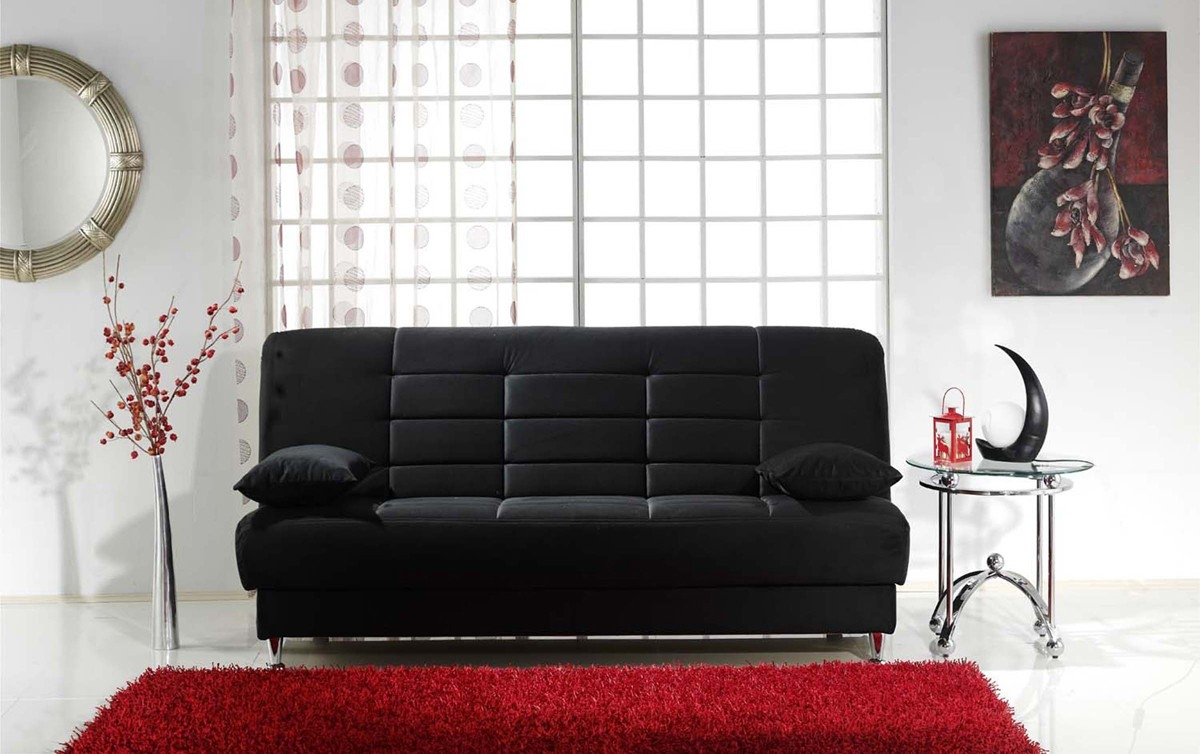Fascinating Sofa Sleeper With Storage Intended For Flip Flop Sofas Vegas Black Sofa Sleeper