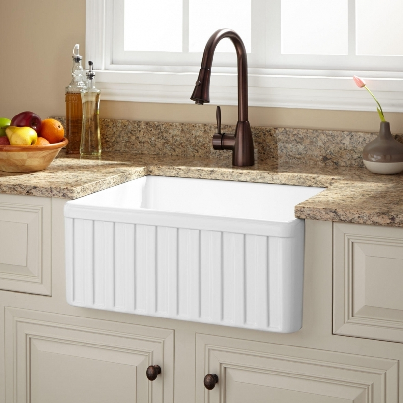 Gorgeous Drop In Farmhouse Fireclay Farmhouse Kitchen Sinks Signature Hardware Pictures