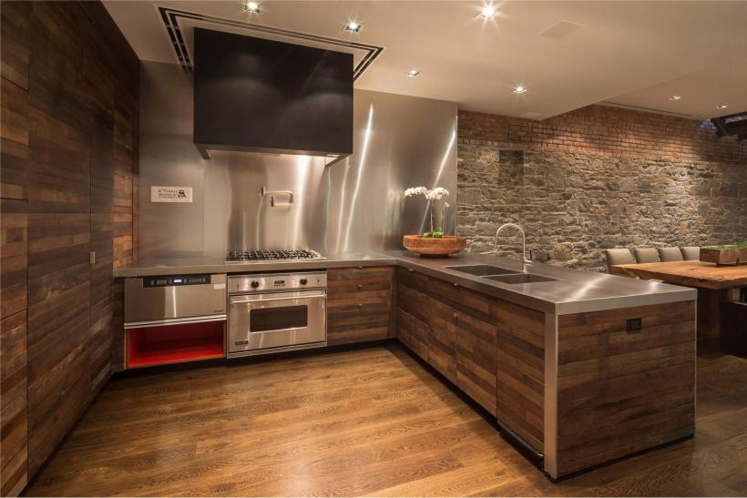 Gorgeous Painted Brick Homes For Modern Kitchen Decoration Pic