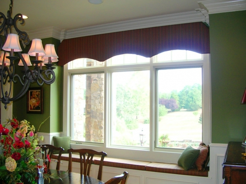 Great Cornices For Windows Seat Cushions And Green Wall Also Wrought Iron Chandelier Pictures