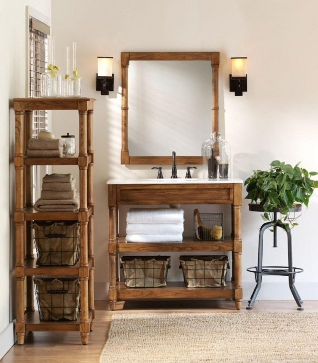 Great Rustic Wood Bathroom Vanities Rustic Shelving Units Pictures