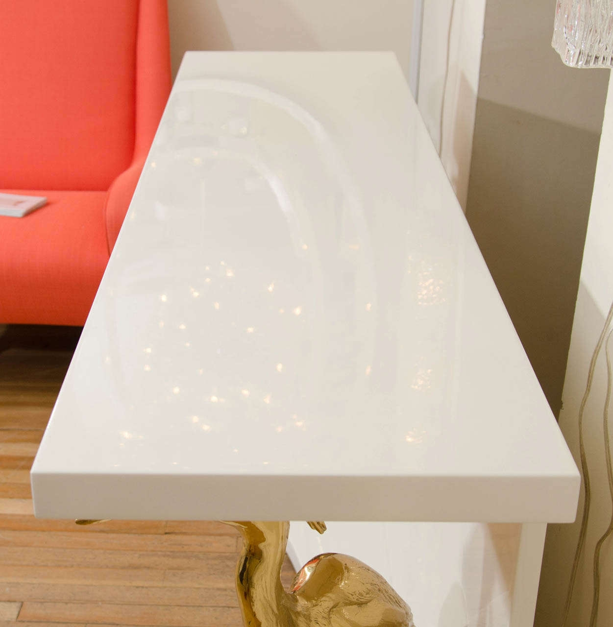 Great White Lacquer Console Table With Regard To White Lacquered Wood Console Table Ideas
