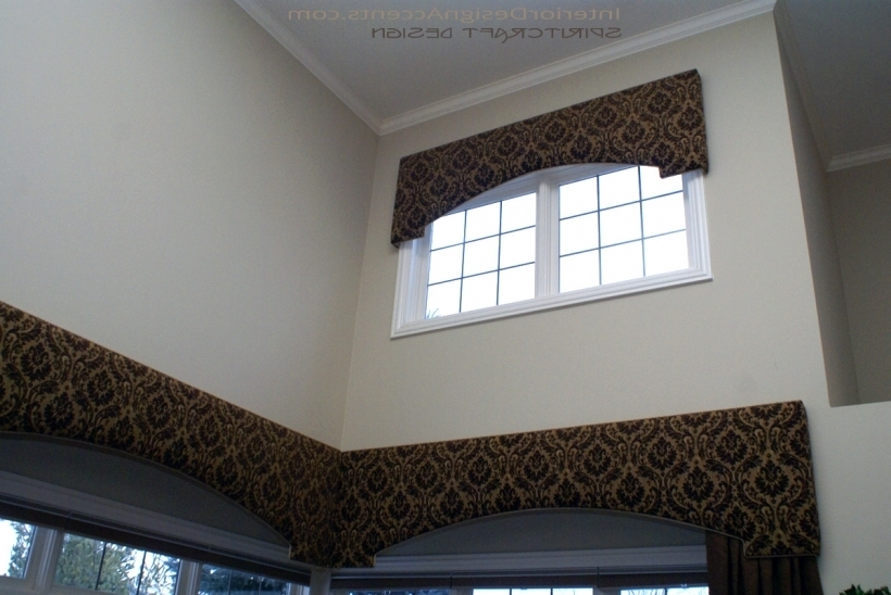 Incredible Cornices For Windows Treatments With Drapery Panels Pic