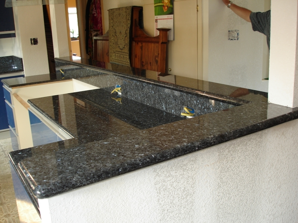 Lovely Blue Pearl Granite Countertop Kitchen House Design Pic