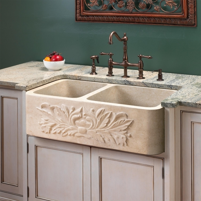 Lovely Drop In Farmhouse Granite Kitchen Sinks Stone Kitchen Sinks Signature Hardware Images