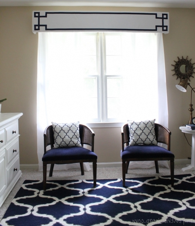 Marvelous Cornices For Windows With White Cabinets And Armchairs As Well As Pattern Carpets Valances Images