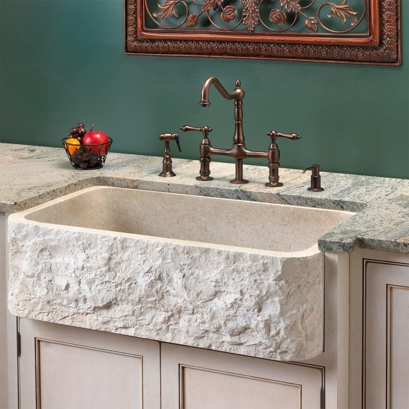 Marvelous Drop In Farmhouse Granite Kitchen Sinks Stone Kitchen Sinks Signature Hardware Photos