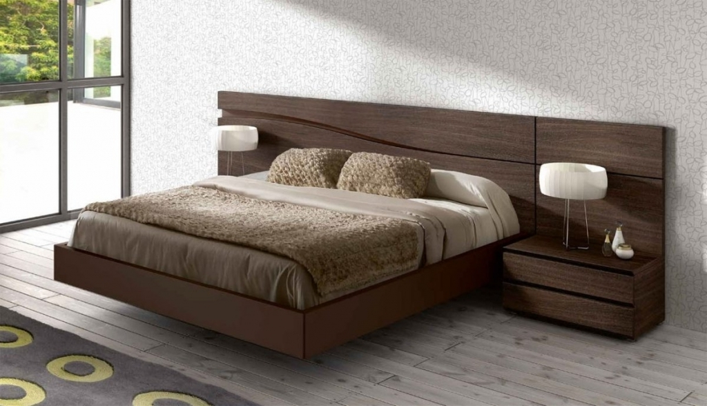 Marvelous Wood Headboard Designs Original Euro Design Bed With Elite Wood Grain Headboard Pic