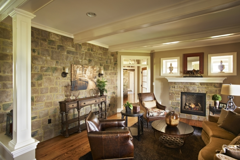 Nice Painted Brick Homes For Modern Living Room Photos