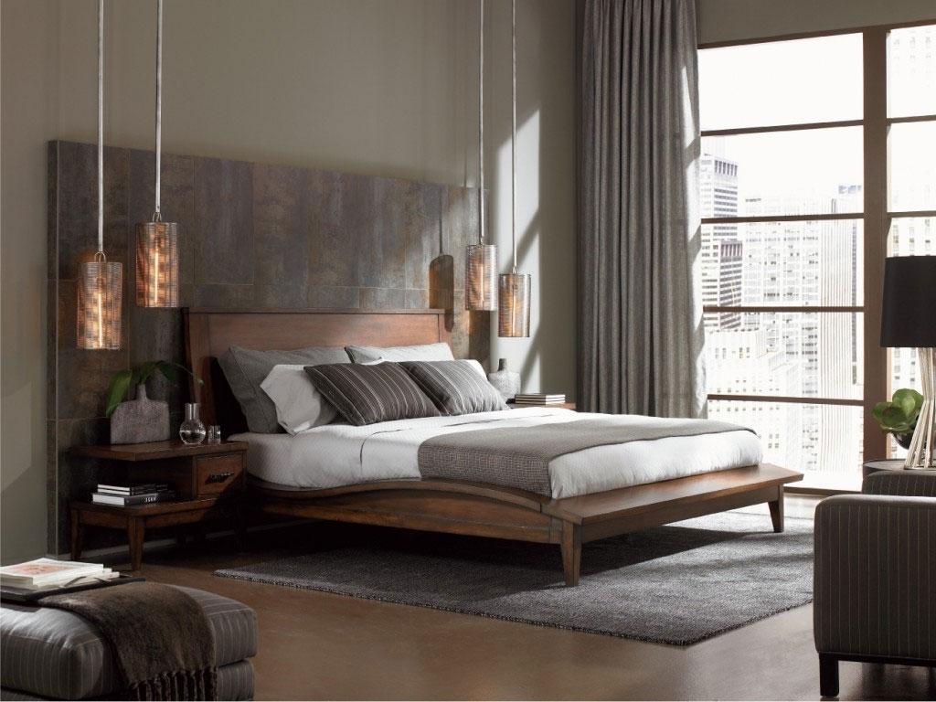 Outstanding Wood Headboard Designs Classic Ideas With Amazing Brown Wood Material Pic