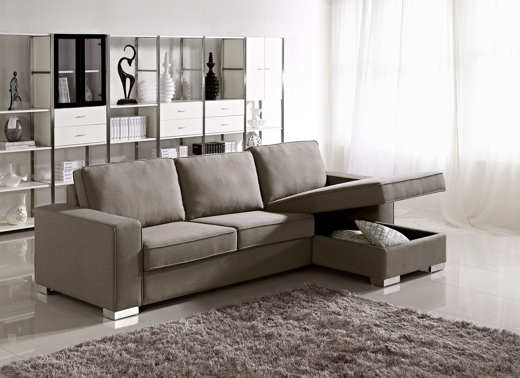 Stunning Sofa Sleeper With Storage Pertaining To Furniture Modern Sectional Sofas Cheap Prices With Extra Large