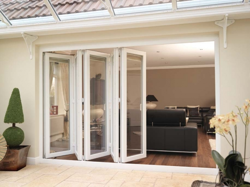 Stylish Folding Sliding French Doors For Interior Or Exterior Ideas Pic