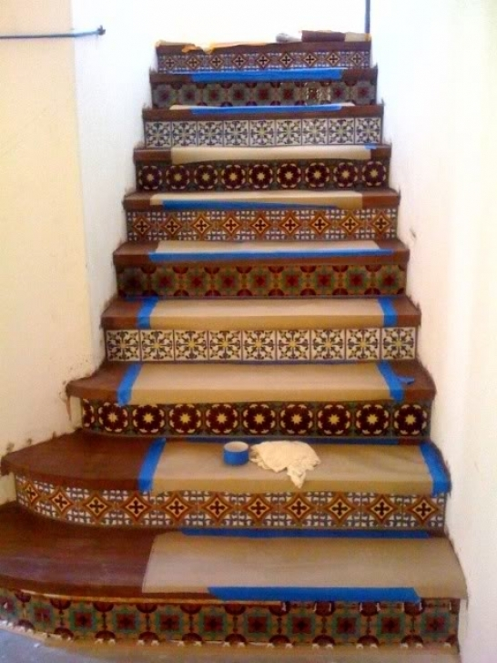Tile On Stair Risers Fellows Design Photos