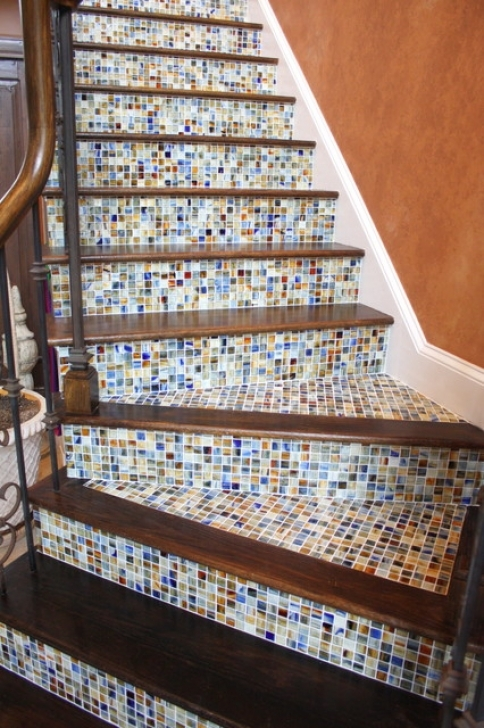 Tile Stair Risers Traditional Staircase Charlotte Tile Images
