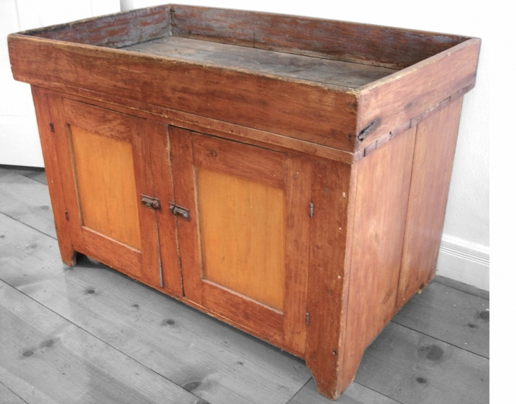 Antique Dry Sink Vanity In Furniture Antique And Primitive Dry Sink With Solid Wood Material Image