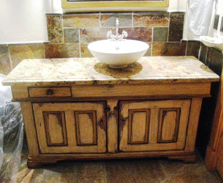 Antique Dry Sink Vanity Throughout Interior Furniture Hot Rustic Furniture For Kitchen And Bathroom Decoration Images
