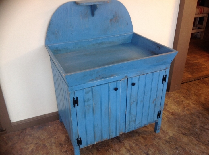 Antique Dry Sink Vanity Throughout Popular Items For Dry Sink Photo
