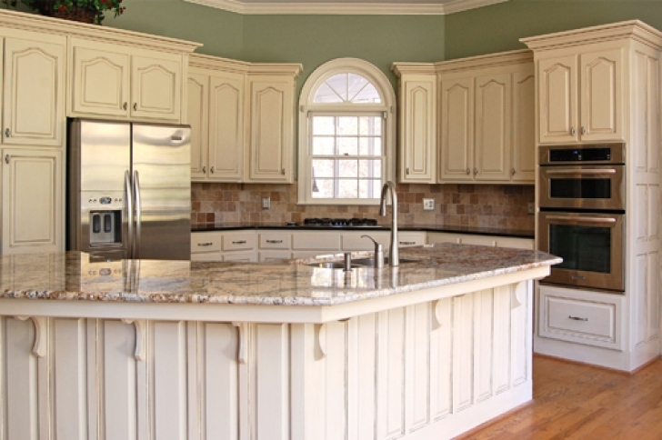 Chalk Paint Kitchen Cabinets Regarding Mary Anne White Glazed Traditional Southern Kitchen  Pictures